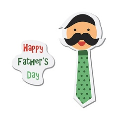 Happy fathers day sticker with happy father vector