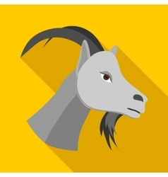 Head of goat icon flat style vector