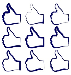 Like symbol set vector image vector image