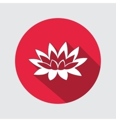 Lily lotus flower icon water-lilies waterlily vector