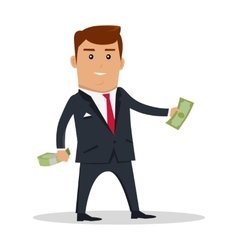 Man character with money vector