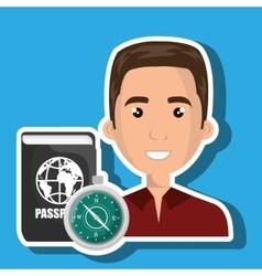 Man password id travel vector