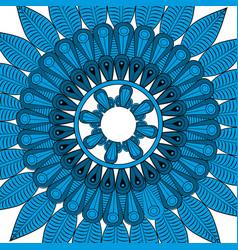 Mandala pattern vintage elements in oriental vector