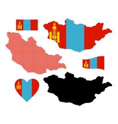 map of Mongolia vector image