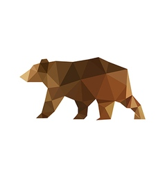 modern flat design with origami bear vector image