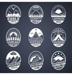 Mountain badge set2 white vector image