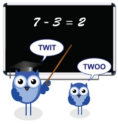 owl teacher twit vector image