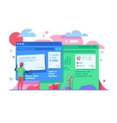 Progress of web design work vector