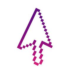 Purple pixel cursor con vector
