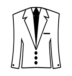suit elegant male isolated icon vector image vector image