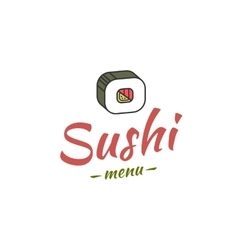 Sushi menu cover vector
