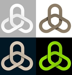 triple linked chain cooperation symbol vector image vector image