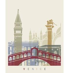 Venice skyline poster vector