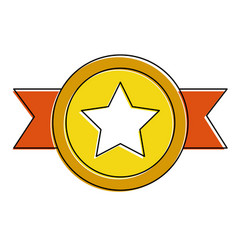 winner medal with star vector image
