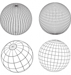 wireframe spheres vector image