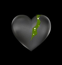 grass and broken heart vector image