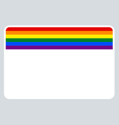 sticker name tag lgbt rainbow flag vector image
