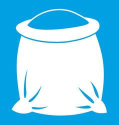 sack full of flour icon white vector image