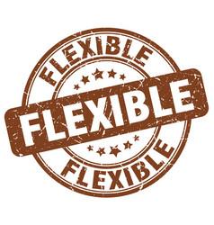 Flexible brown grunge round vintage rubber stamp vector