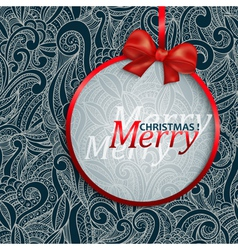Christmas card with an ornament vector