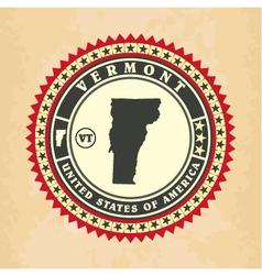 Vintage label-sticker cards of vermont vector
