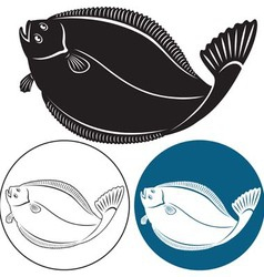 Halibut vector