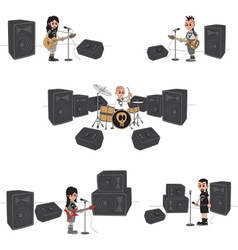 Rock n roll design elements vector