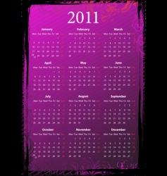 Grunge calendar 2011 vector
