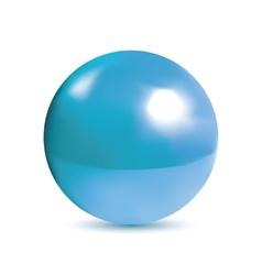 Photorealistic shiny blue orb vector image