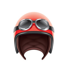 retro aviator helmet isolated vector image
