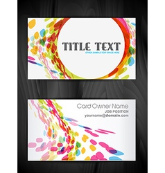 Beautiful creative business card design vector