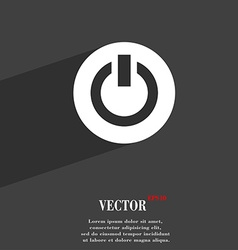 Power switch on turn on icon symbol flat modern vector