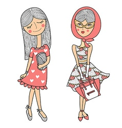 Cartoon girl design vector