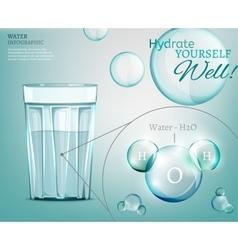 Water molecule 03 A vector image