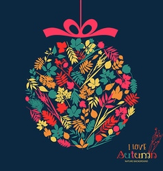 Autumn ball design vector