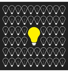 Switch on and off light bulb collection lined vector