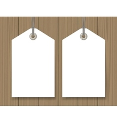 Blank sale tags mock up vector
