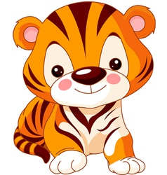 cartoon tiger vector image