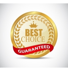 Gold best choice label vector