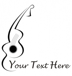guitar tattoo vector image