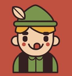 Iconic german boy mascot vector