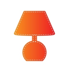 Lamp sign  orange applique isolated vector
