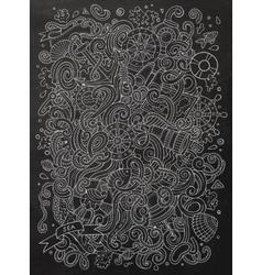 Nautical chalkboard doodle vector