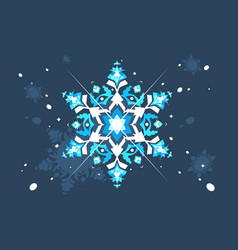 Abstract snowlflake flat design vector