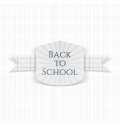 Back to school greeting label vector