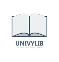 Book logo or symbol icon vector image