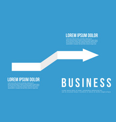 Business infographic arrow design art vector