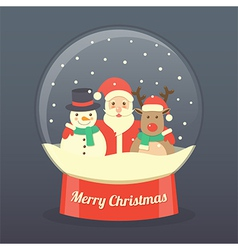 Christmas Santa Claus background vector image