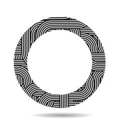 Circle striped frame vector