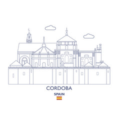 Cordoba city skyline vector